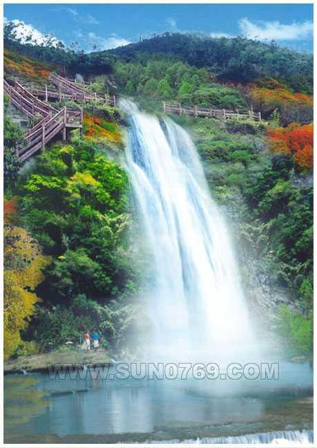 壁纸 风景 旅游 瀑布 山水 桌面 459_648 竖版 竖屏 手机